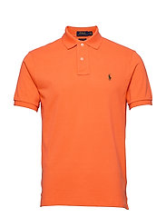 Custom Slim Fit Mesh Polo - SOUTHERN ORANGE/C
