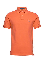 Custom Slim Fit Mesh Polo - SPRING MELON HEAT