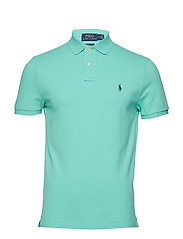 Custom Slim Fit Mesh Polo - SUNSET GREEN