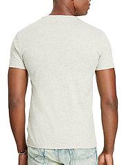 Polo Ralph Lauren - Custom Slim Fit Cotton T-Shirt - basic t-shirts - new grey heather - 3
