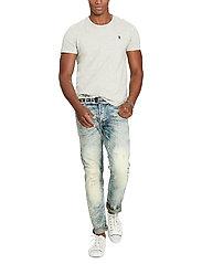 Polo Ralph Lauren - Custom Slim Fit Cotton T-Shirt - basic t-shirts - new grey heather - 4