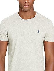 Polo Ralph Lauren - Custom Slim Fit Cotton T-Shirt - basic t-shirts - new grey heather - 5