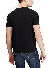 Polo Ralph Lauren - Custom Slim Fit Cotton T-Shirt - basic t-shirts - rl black - 3
