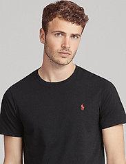 Polo Ralph Lauren - Custom Slim Fit Cotton T-Shirt - basic t-shirts - rl black - 5