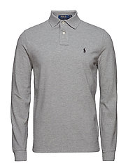 Custom Slim Fit Mesh Polo - ANDOVER HEATHER