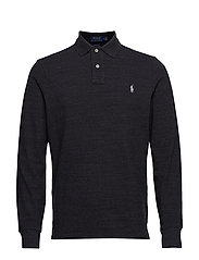 Custom Slim Fit Mesh Polo - BLACK MARL HEATHE