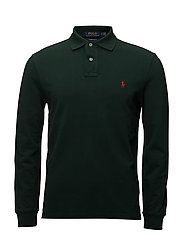 Custom Slim Fit Mesh Polo - COLLEGE GREEN