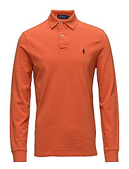 Custom Slim Fit Mesh Polo - COLLEGE ORANGE HE