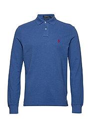Custom Slim Fit Mesh Polo - DOCKSIDE BLUE HEA
