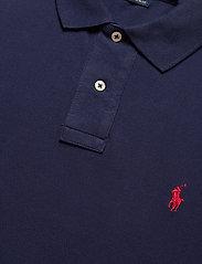 Polo Ralph Lauren - Custom Slim Fit Mesh Polo - lange mouwen - newport navy/c387 - 2