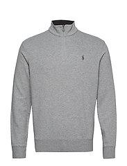 Jersey Half-Zip Pullover - ANDOVER HEATHER