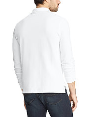 Polo Ralph Lauren - Slim Fit Mesh Long-Sleeve Polo - lange mouwen - white - 3