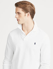 Polo Ralph Lauren - Slim Fit Mesh Long-Sleeve Polo - lange mouwen - white - 6