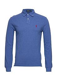 Slim Fit Mesh Long-Sleeve Polo - DOCKSIDE BLUE HEA