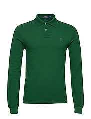 Slim Fit Mesh Long-Sleeve Polo - NEW FOREST/C4649