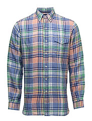 Classic Fit Linen Shirt - 2209 PASTEL BLUE/
