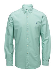 Classic Fit Cotton Oxford Shirt - BAYSIDE GREEN