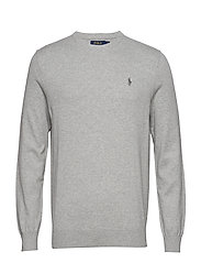 Slim Fit Cotton Sweater - ANDOVER HEATHER