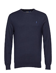 Slim Fit Cotton Sweater - HUNTER NAVY
