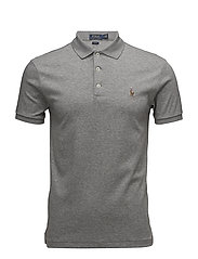 Slim Fit Soft-Touch Polo Shirt - STEEL HEATHER