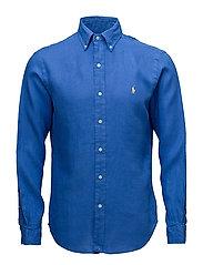 Slim Fit Linen Sport Shirt - ALPINE ROYAL