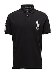 Custom Slim Fit Mesh Polo - POLO BLACK