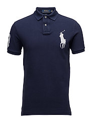 Slim-Fit Mesh Polo Shirt - NEWPORT NAVY