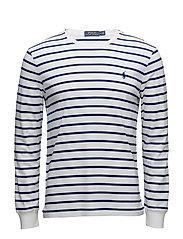 Custom Slim Fit Cotton T-Shirt - WHITE/FALL ROYAL
