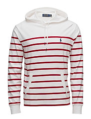 Cotton Hooded T-Shirt - WHITE/RALPH RED