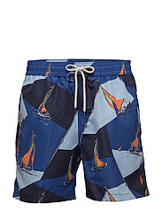 5¾-Inch Traveler Swim Trunk - RL SAILBOAT