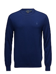 Slim Fit Cotton Sweater - FALL ROYAL