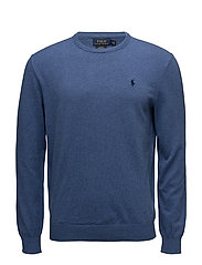 Slim Fit Cotton Sweater - HAVEN BLUE HEATHE