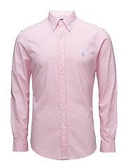 Slim Fit Cotton Twill Shirt - CARMEL PINK