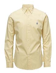 Slim Fit Cotton Twill Shirt - EMPIRE YELLOW
