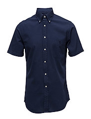 Slim Fit Cotton Sport Shirt - ASTORIA NAVY