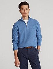 Polo Ralph Lauren - Cotton Half-Zip Sweater - half zip - blue stone heathe - 0