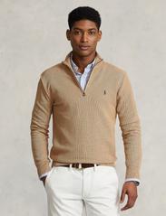 Polo Ralph Lauren - Cotton Half-Zip Sweater - half zip - camel melange - 0