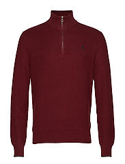 Cotton Half-Zip Sweater - CLASSIC WINE