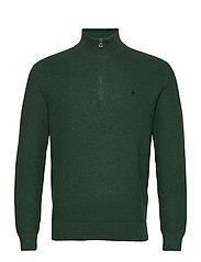 Cotton Half-Zip Sweater - HEMLOCK GREEN