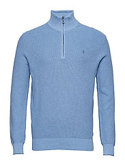 Cotton Half-Zip Sweater - JAMAICA BLUE HEAT