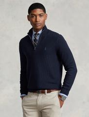 Polo Ralph Lauren - Cotton Quarter-Zip Sweater - half zip - navy heather - 0