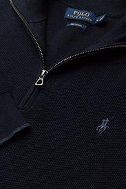 Polo Ralph Lauren - Cotton Quarter-Zip Sweater - half zip - navy heather - 3