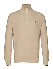 Cotton Half-Zip Sweater - OATMEAL HEATHER
