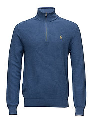 Cotton Half-Zip Sweater - ROYAL HEATHER