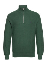 Cotton Half-Zip Sweater - SCOTCH PINE HEATH