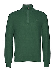 Cotton Half-Zip Sweater - STUART GREEN HEAT