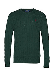 Cable-Knit Cotton Sweater - SCOTCH PINE HEATH