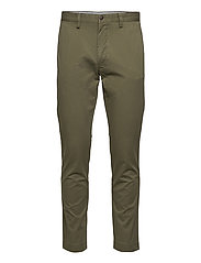 Stretch Slim Fit Cotton Chino - EXPEDITION OLIVE