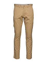 Stretch Slim Fit Cotton Chino - LUXURY TAN