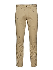Stretch Slim Fit Cotton Chino - LUXURY TAN FOOTBA
